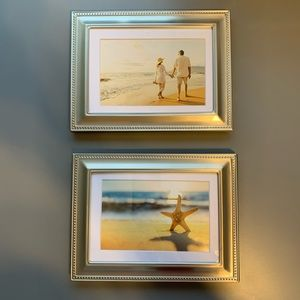 """NWT Set of 2 5""""x7"""" Photo Frames with Mats"""